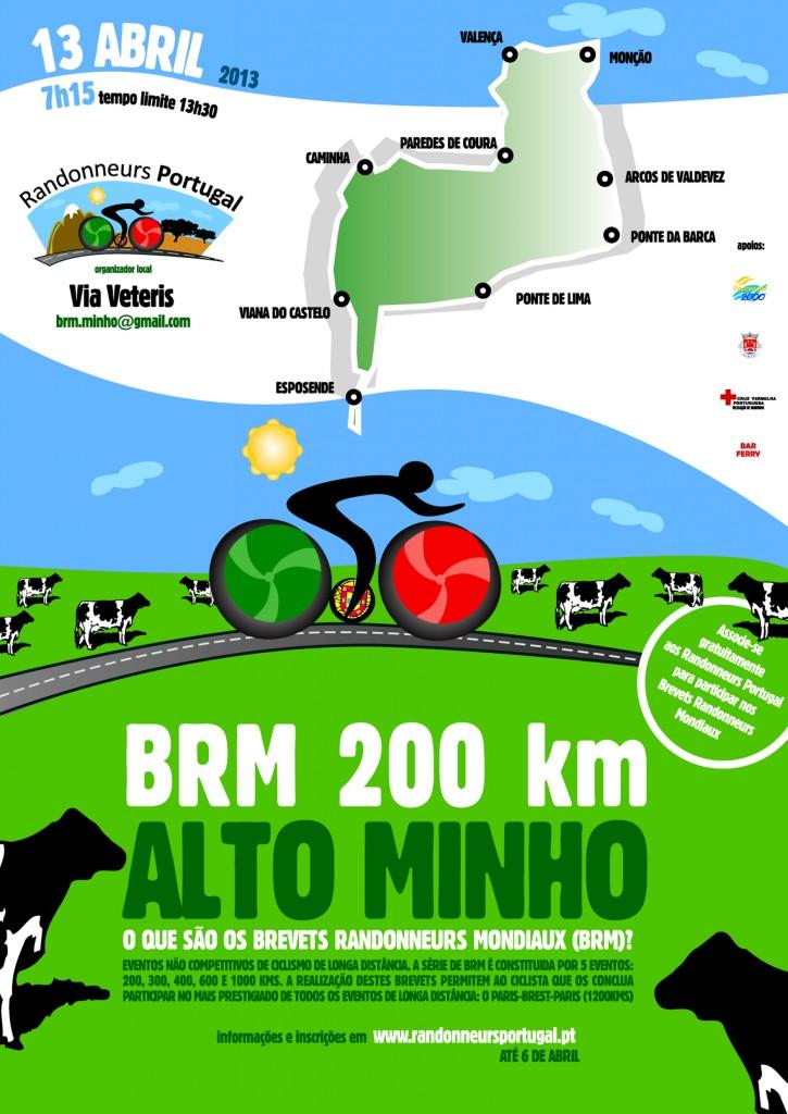 Cartaz BRM Alto Minho 200 (2013)