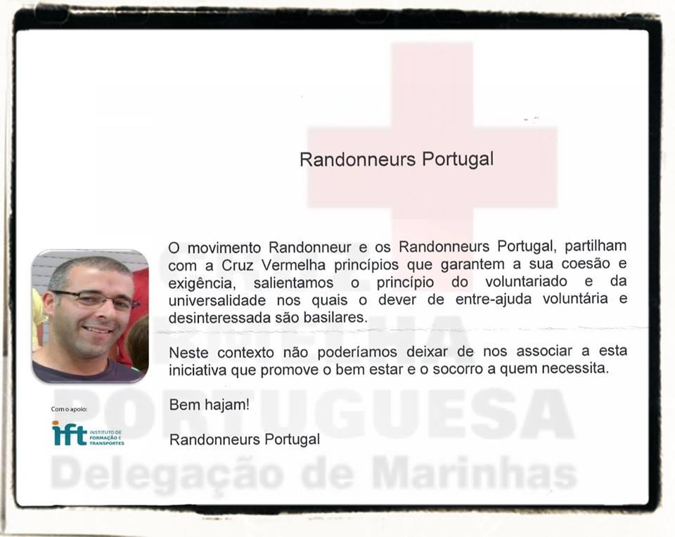 Iniciativa solidária da Cruz Vermelha de Marinhas - > Randonneurs Portugal